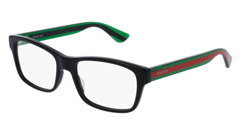 Gucci GG0006O-006 Black Green Eyeglasses / Demo Lenses