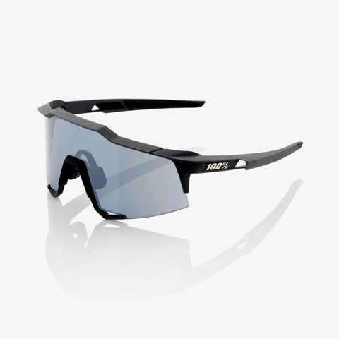 100 Percent - Speedcraft  Soft Tact Black Sunglasses / Smoke + Clear Lenses