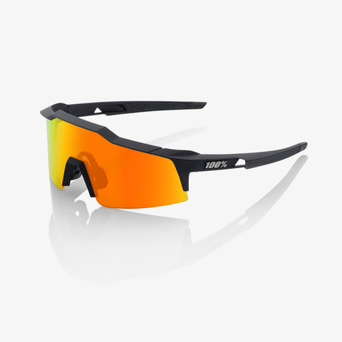 100 Percent - Speedcraft SL Soft Tact Black  Sunglasses / HiPER Red Multilayer Mirror + Clear Lenses