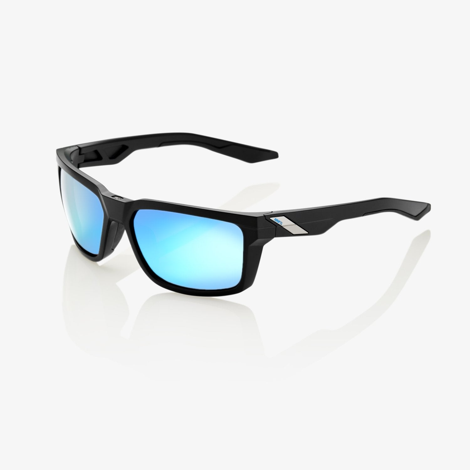 100 Percent - Daze Matte Black Sunglasses / HiPER Blue Multilayer Mirror Lenses
