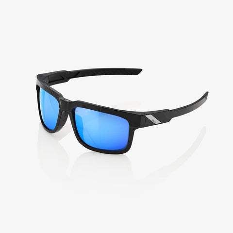 100 Percent - Type-S Matte Black Sunglasses / HiPER Blue Multilayer Mirror Lenses