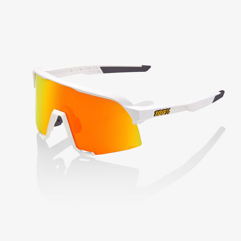 100 Percent - S3 Soft Tact White  Sunglasses / HiPER Red Multilayer Mirror Lenses