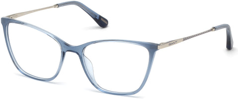 Gant - GA4089 Shiny Blue Eyeglasses / Demo Lenses