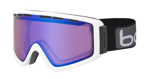 Bolle - Z5 OTG Shiny White Snow Goggles / NXT Modulator Vermillion Blue Lenses