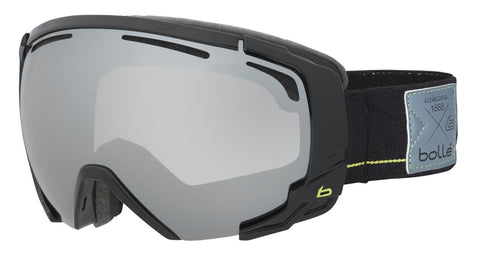 Bolle - Supreme OTG Shiny Black Lime Snow Goggles / Black Chrome Lenses