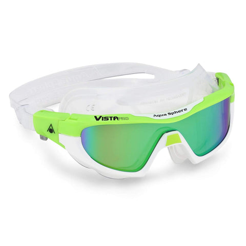 Aqua Sphere - Vista Pro Lime White Swim Goggles / Mirror Lenses