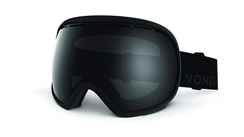 VonZipper - Fishbowl Black Satin BSW Goggles, Wildlife Lenses