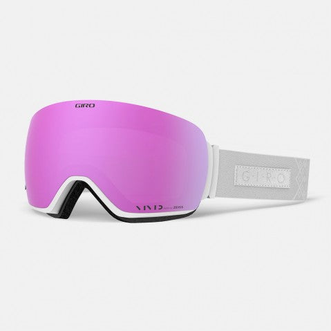 Giro - Lusi Asian Fit White Velvet Snow Goggles / Vivid Pink + Vivid Infrared Lenses
