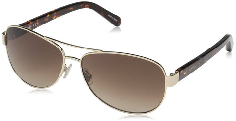 Fossil - Fos 2004 S Light Gold Sunglasses / Brown Gradient Lenses
