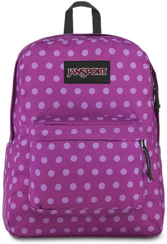 JanSport - Black Label Superbreak Purple Palm Polka Dot Backpack
