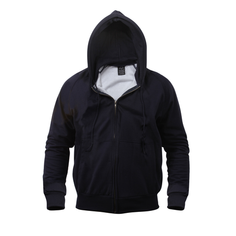 Rothco - Hooded Thermal Lined Navy Blue Sweatshirt
