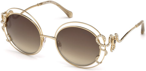 Roberto Cavalli - RC1024 Carducci Shiny Rose Gold Sunglasses / Brown Mirror Lenses