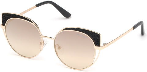 Marciano - GM0796 Gold Sunglasses / Smoke Mirror Lenses