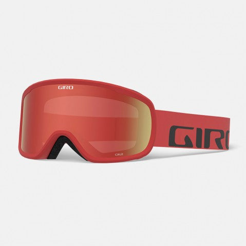 Giro - Cruz Red Wordmark Snow Goggles / Amber Scarlet Lenses