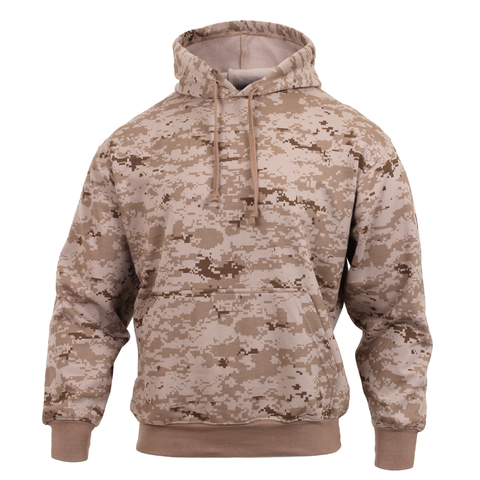 Rothco - Hooded Pullover Desert Digital Camo Sweatshirt