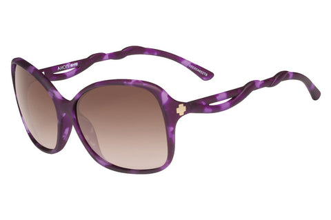 Spy - Fiona Soft Matte Purple Tort Sunglasses, Happy Bronze Fade Lenses