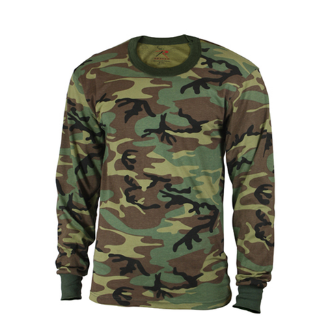 Rothco - Kids' Woodland Camo Long Sleeve Tee