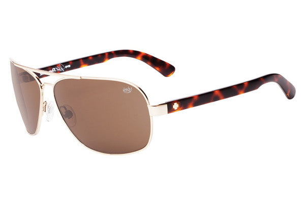 Spy - Showtime Gold w/ Classic Tort Sunglasses, Happy Bronze Lenses