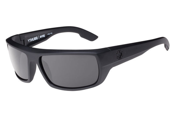 Spy - Bounty Matte Black Ansi Sunglasses, Grey Lenses