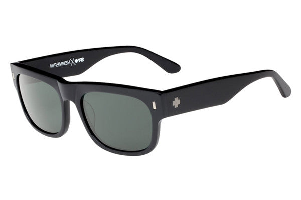 Spy - Hennepin Black Sunglasses, Happy Grey Green Polar Lenses