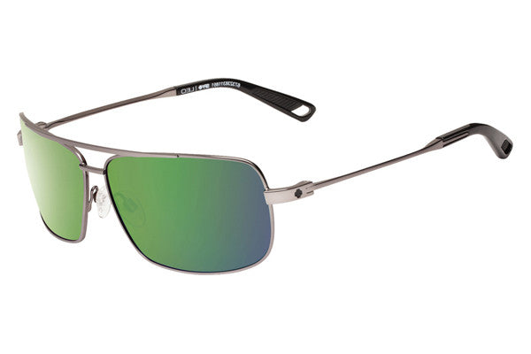 Spy - Leo Gunmetal Sunglasses, Happy Bronze Polar w/ Green Spectra Lenses