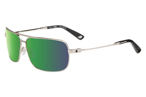 Spy - Leo Silver Sunglasses, Happy Bronze + Green Spectra Lenses