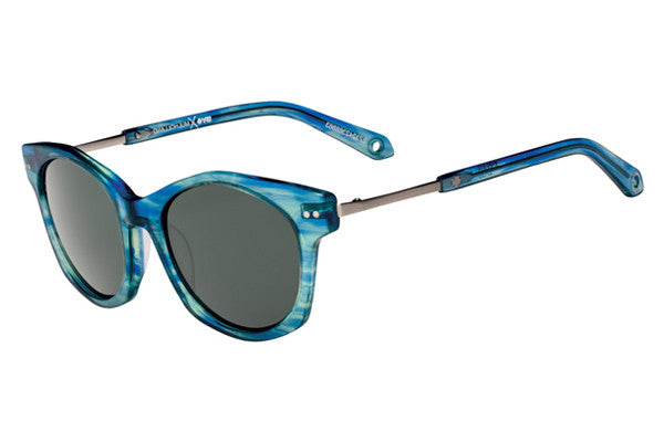 Spy Mulholland Blue Smoke Sunglasses, Happy Grey Green Lenses
