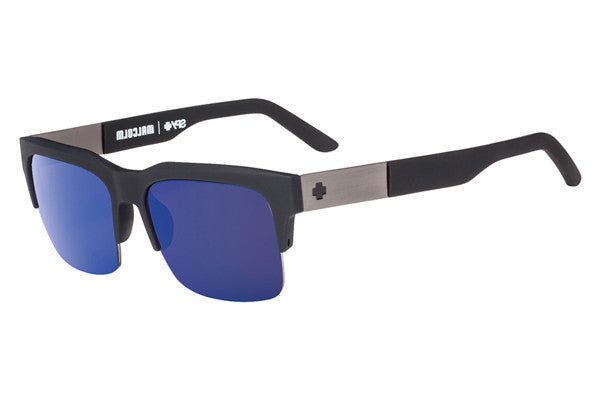 Spy - Malcolm Matte Black Sunglasses, Happy Bronze W/ Dark Blue Spectra  Lenses