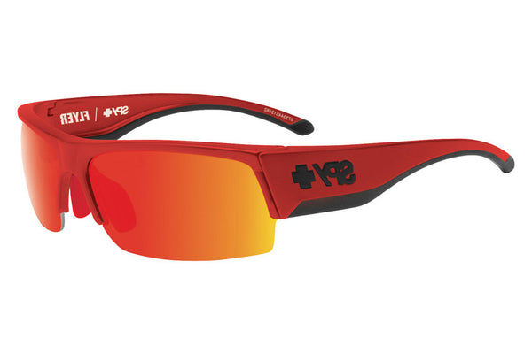 Spy - Flyer Red Flash Sunglasses, Happy Grey Green + Red Spectra Lenses
