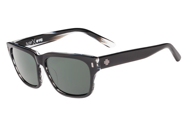 Spy - Tele Black/Horn Sunglasses, Happy Grey Green Lenses