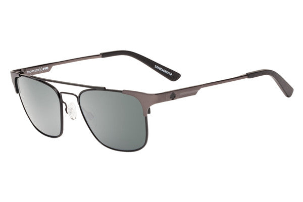 Spy - Westport Matte Gunmetal/Matte Black Sunglasses, Happy Grey Green W/ Silver Mirror Lenses