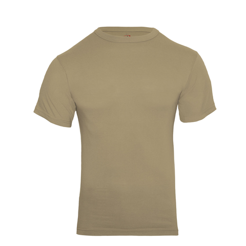 Rothco - Cotton Polyester Blend Solid Color Military Khaki T-shirt