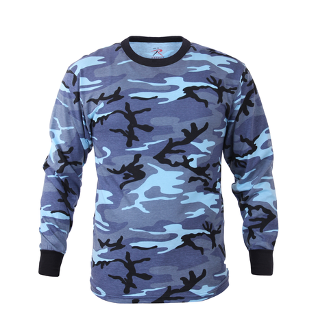 Rothco - Colored Sky Blue Camo Long Sleeve Tee
