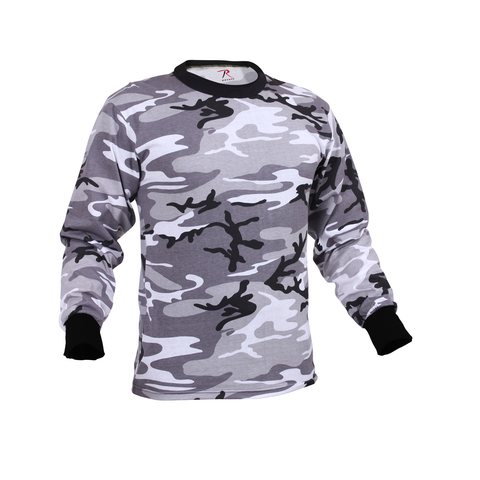 Rothco - Colored City Camo Long Sleeve Tee