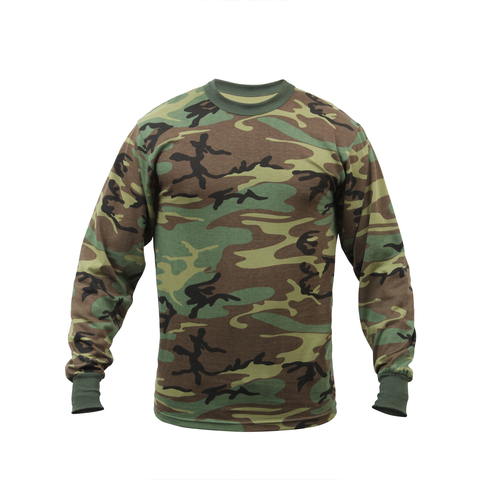 Rothco - Woodland Camo Long Sleeve Tee