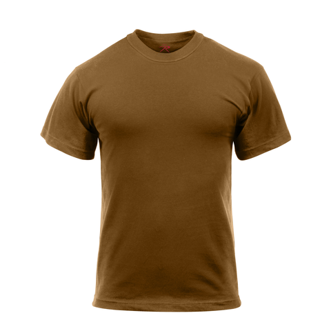 Rothco - Cotton Polyester Blend Solid Color Military Brown T-shirt
