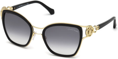 Roberto Cavalli - RC1081 Montaione Shiny Black Sunglasses / Gradient Smoke Lenses