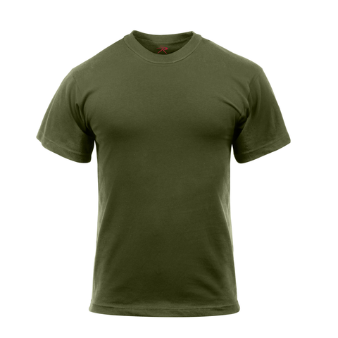 Rothco - Cotton Polyester Blend Solid Color Military Olive Drab T-shirt