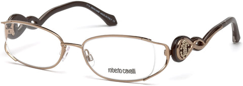 Roberto Cavalli - RC5028 Calenzano Shiny Light Bronze Eyeglasses / Demo Lenses