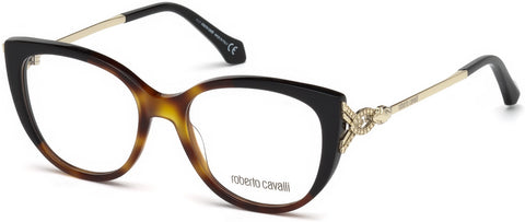 Roberto Cavalli - RC5053 Follonica Dark Havana Eyeglasses / Demo Lenses
