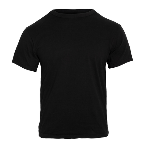 Rothco - 100% Cotton Solid Color Black T-shirt
