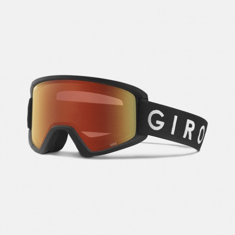 Giro - Semi Asian Fit Black Core Snow Goggles / Amber Scarlet + Yellow Lenses