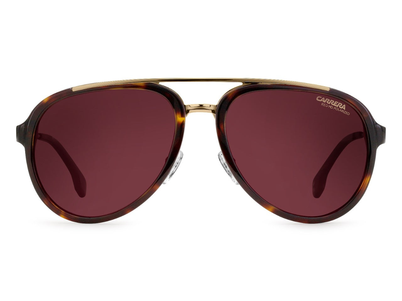 Carrera - 132 Havana Gold Sunglasses / Burgundy Polarized Lenses