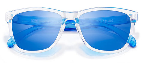 Sunski Originals Clear Sunglasses / Blue Polarized Lenses