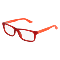 Puma - PJ0009O Junior Red + Orange Eyeglasses / Demo Lenses