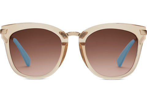 TOMS - Adeline Matte Champagne Sunglasses / Brown Gradient Lenses
