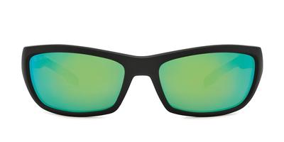Kaenon - Cowell Black Matte Grip Sunglasses / Ultra Brown 12 Costal Green Lenses