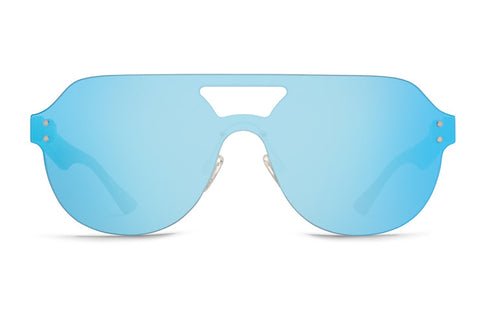 VonZipper - Alt Psychwig Tortoise Satin Sunglasses / Sky Chrome Lenses