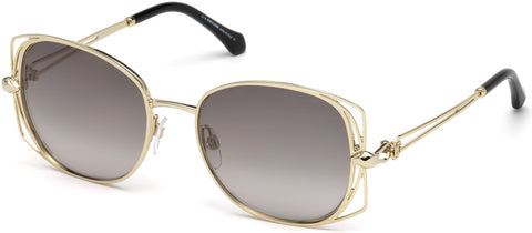 Roberto Cavalli - RC1031 Casentino Gold Sunglasses / Gradient Smoke Lenses