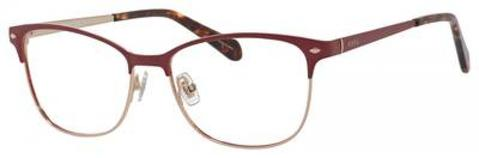 Fossil - Fos 7034 53mm Red Gold Semi Matte Eyeglasses / Demo Lenses